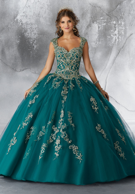 3b652fb5f6c BEAD EMBROIDERED QUINCEANERA DRESS BY MORI LEE VIZCAYA 89196